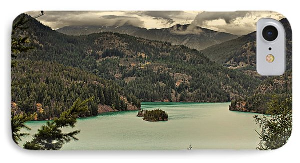 Diablo Lake - Le Grand Seigneur Of North Cascades National Park Wa Usa Phone Case by Christine Till