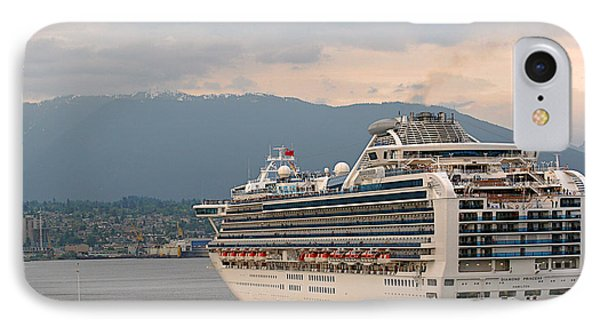 Diamond Princess Leaving Vancouver British Columbia Canada Phone Case by Christine Till