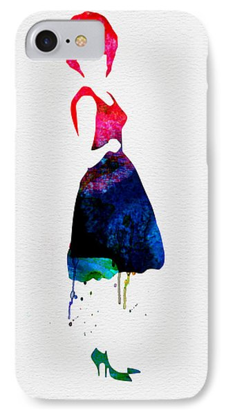 Diana Watercolor IPhone Case by Naxart Studio