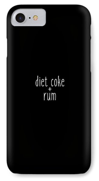 Diet Coke And Rum IPhone Case by Cortney Herron