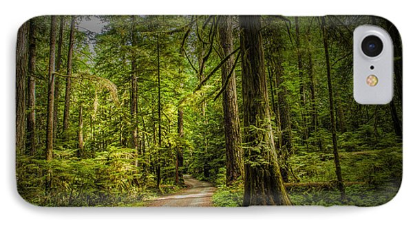 Dirt Road On Vancouver Island IPhone Case by Randall Nyhof