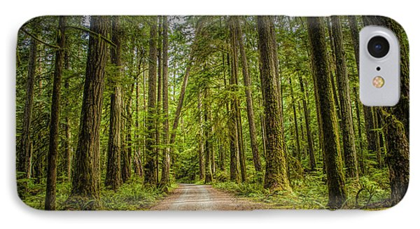 Dirt Road Through A Rain Forest On Vancouver Island IPhone Case by Randall Nyhof