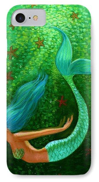 Diving Mermaid Fantasy Art IPhone 7 Case by Sue Halstenberg