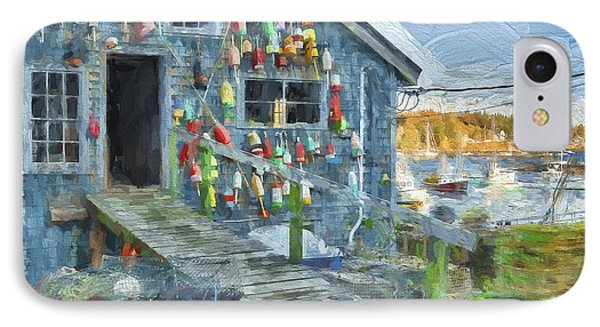 Dock House In Maine II IPhone Case by Jon Glaser