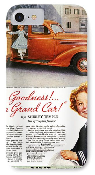 Dodge Automobile Ad, 1936 IPhone Case by Granger