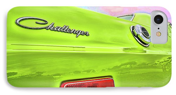 Dodge Challenger In Sublime Green Phone Case by Gordon Dean II