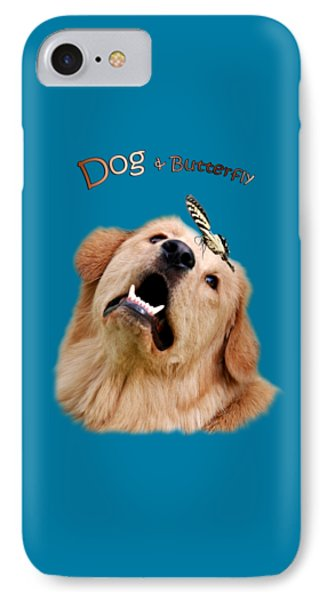 Dog And Butterfly IPhone Case by Christina Rollo