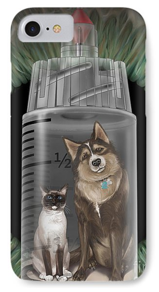 Dog And Cat Vaccinations, Illustration IPhone Case by DNA Illustrations