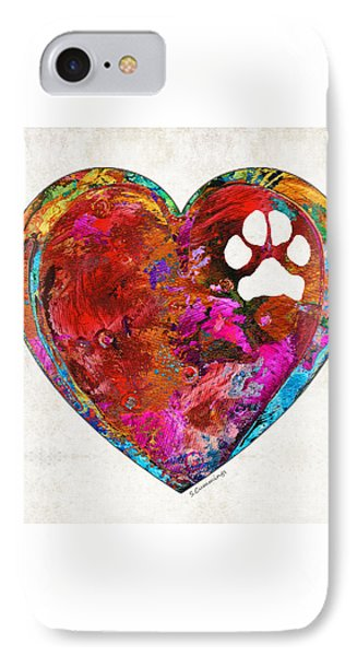 Dog Art - Puppy Love 2 - Sharon Cummings IPhone Case by Sharon Cummings