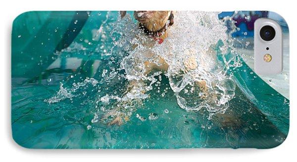 Dog Splashing In Water IPhone Case by Gillham Studios