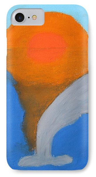 Dolphin At Sunset Phone Case by Melissa Parks