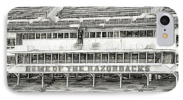 Donald W. Reynolds Razorback Stadium IPhone 7 Case by JC Findley
