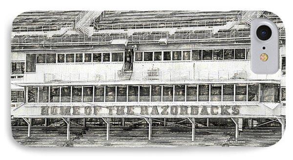 Donald W. Reynolds Razorback Stadium IPhone Case by JC Findley