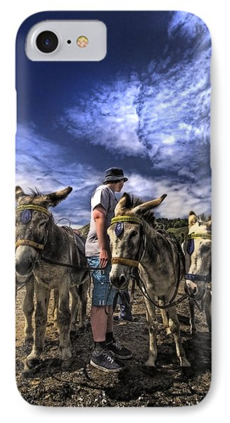 Donkey Rides IPhone Case by Meirion Matthias