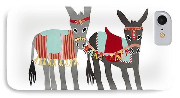 Donkeys IPhone Case by Isoebl Barber