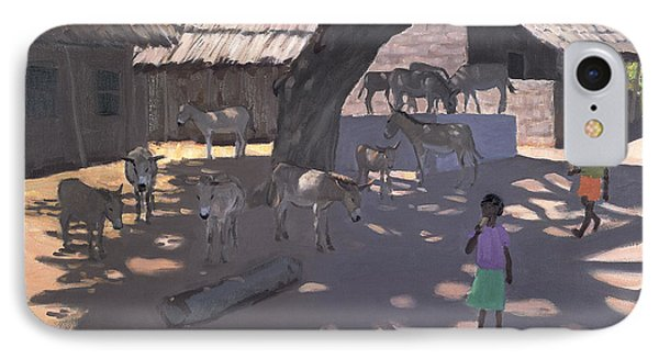 Donkeys Lamu Kenya Phone Case by Andrew Macara
