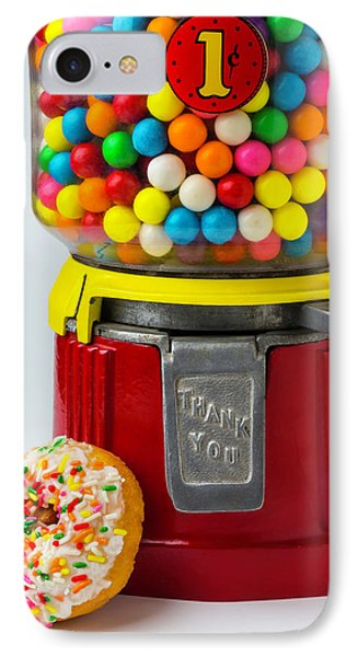 Donut And Bubblegum Machine IPhone Case by Garry Gay