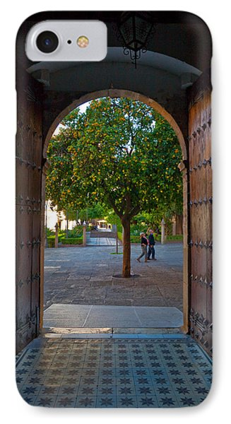 Doorway And Arch Between Gardens IPhone Case by Panoramic Images