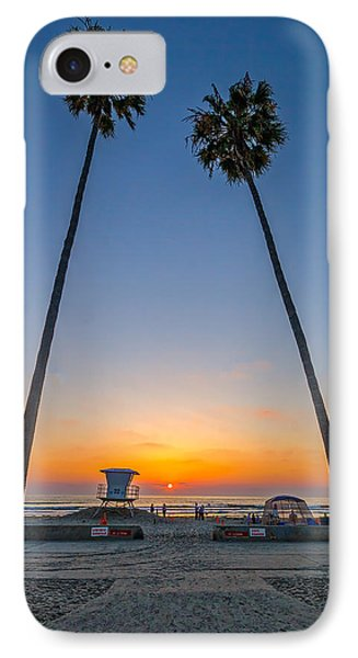 Dos Palms IPhone Case by Peter Tellone