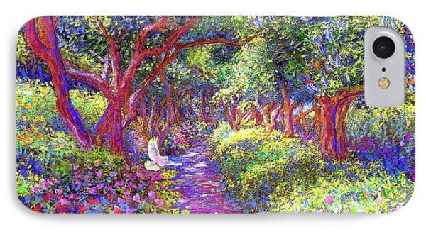 Dove And Healing Garden IPhone 7 Case by Jane Small