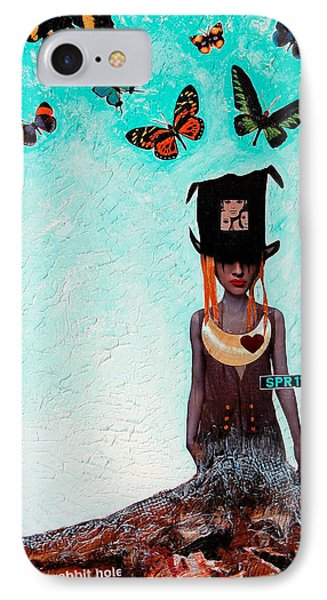 Down The Rabbit Hole Phone Case by Sharon Cummings