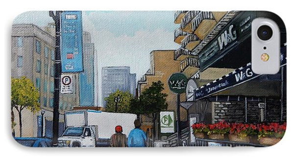 Downtown Montreal IPhone Case by Reb Frost