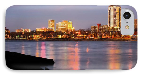 Downtown Tulsa Oklahoma - University Tower View IPhone 7 Case by Gregory Ballos
