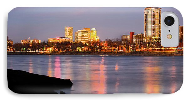 Downtown Tulsa Oklahoma - University Tower View IPhone Case by Gregory Ballos