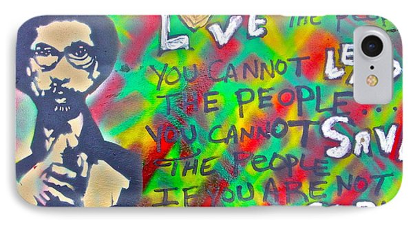 Dr. Cornel West  Love The People IPhone Case by Tony B Conscious