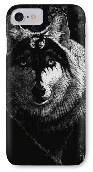 Dragon Wolf IPhone 7 Case by Stanley Morrison