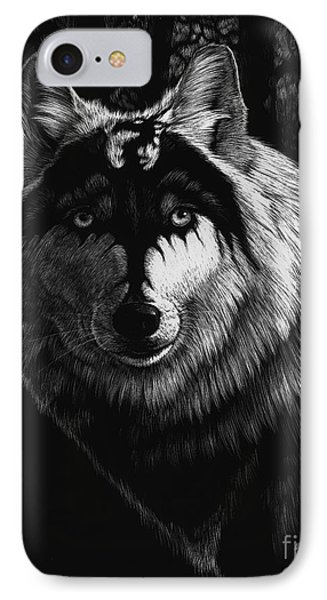 Dragon Wolf IPhone Case by Stanley Morrison