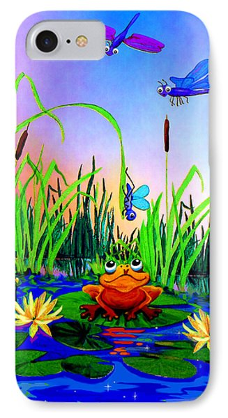 Dragonfly Pond Phone Case by Hanne Lore Koehler