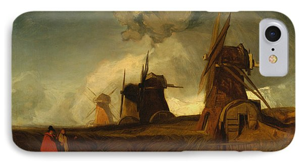 Drainage Mills In The Fens, Croyland, Lincolnshire IPhone Case by John Sell Cotman