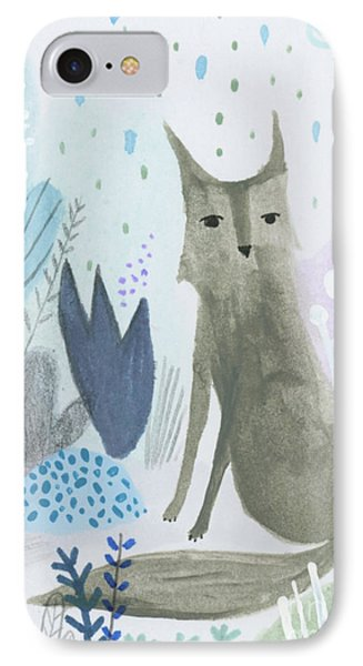 Dramatic Wolf In The Rain IPhone Case by Kate Cosgrove