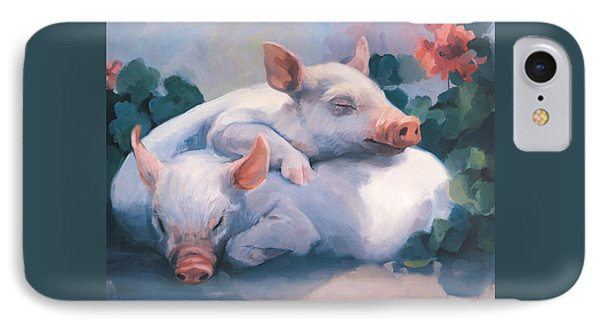 Dream Away Piglets IPhone Case by Laurie Hein