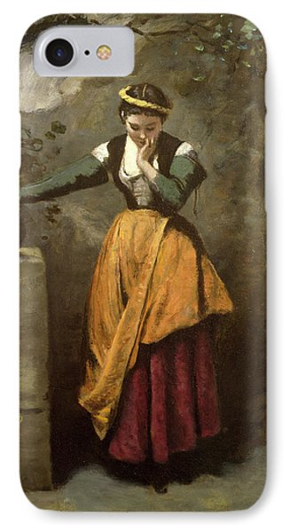 Dreamer At The Fountain Phone Case by Jean Baptiste Camille Corot