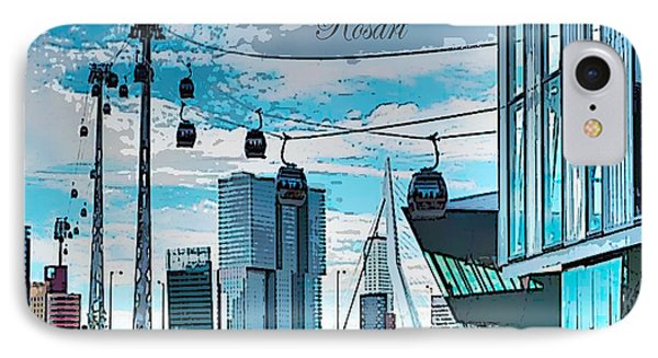 Dreamline Rotterdam IPhone Case by Rosa Maria Intorre