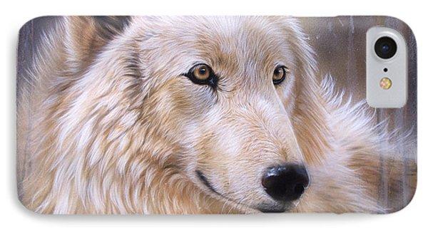 Dreamscape - Wolf II IPhone Case by Sandi Baker