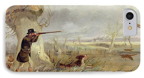 Duck Shooting  IPhone Case by Henry Thomas Alken