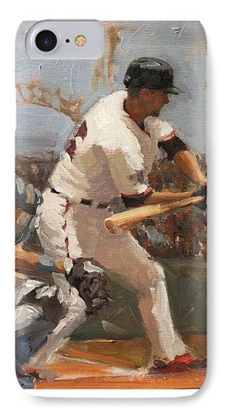 Duffy At Bat IPhone Case by Darren Kerr