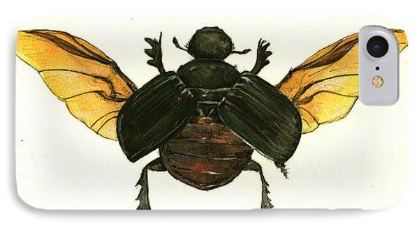Dung Beetle IPhone Case by Juan Bosco