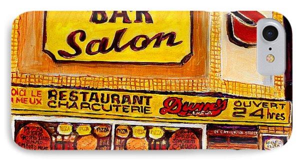 Dunn's Restaurant Montreal Phone Case by Carole Spandau