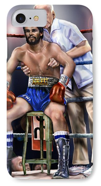 Duran Hands Of Stone 1a IPhone Case by Reggie Duffie