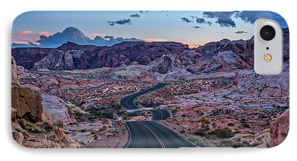 Dusk On The Open Road IPhone Case by Rick Berk