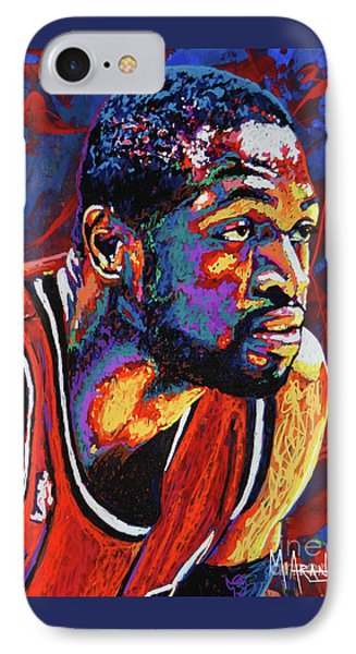 Dwyane Wade 3 IPhone Case by Maria Arango