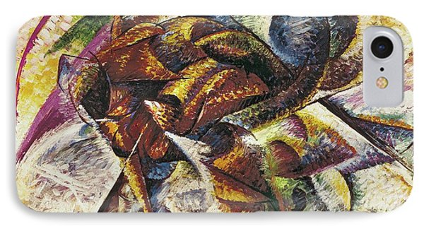 Dynamism Of A Cyclist Phone Case by Umberto Boccioni