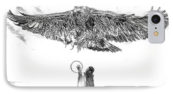 Eagle Visit Phone Case by John Keaton