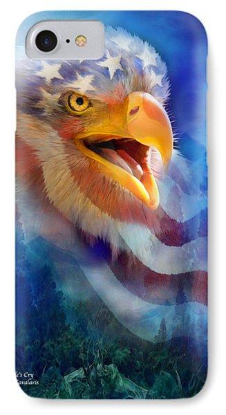 Eagle's Cry IPhone Case by Carol Cavalaris