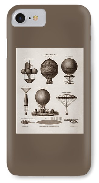 Early Balloon Designs IPhone Case by War Is Hell Store