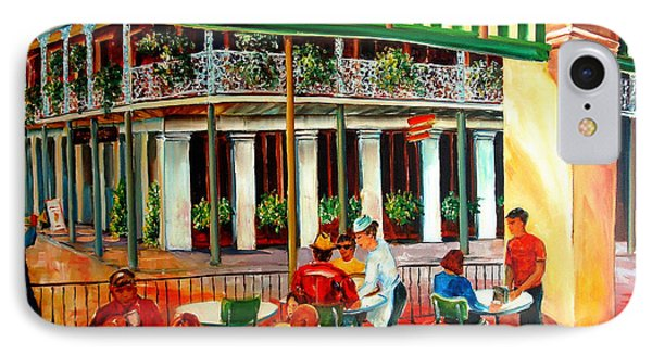 Early Morning At The Cafe Du Monde Phone Case by Diane Millsap